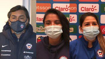 100421-02 DECLARACIONES SELECCIÓN CHILENA FEMENINA TRAS TRIUNFO A CAMERÚN 00